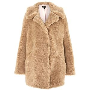 🆕 Topshop 'Borg' Teddy Bear Coat